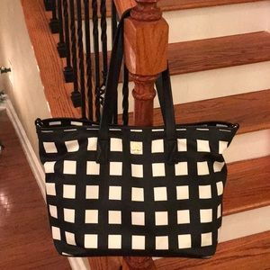 ♠️ Kate Spade Checkered tote ♠️like new!